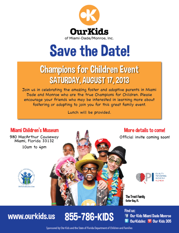 Save the date - Saturday, August 17, 2013